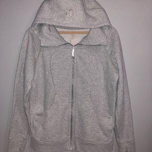 Lululemon scuba hoodie jacket 10 euc grey